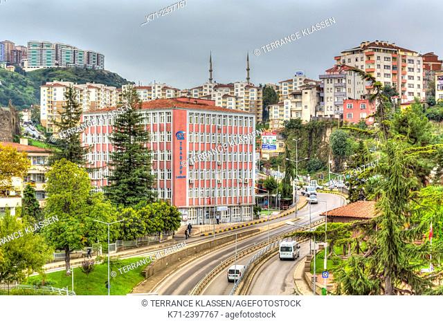 A residential community in the Black Sea port of Trabzon, Turkey