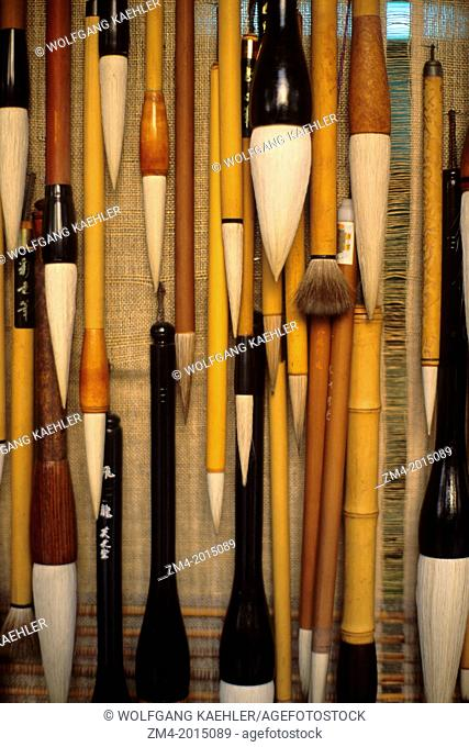 KOREA, SEOUL, SUSONG-DONG, CALLIGRAPHY BRUSHES