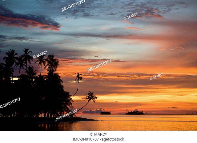 Panama, San Blas islands, comarca Kuna Yala by night