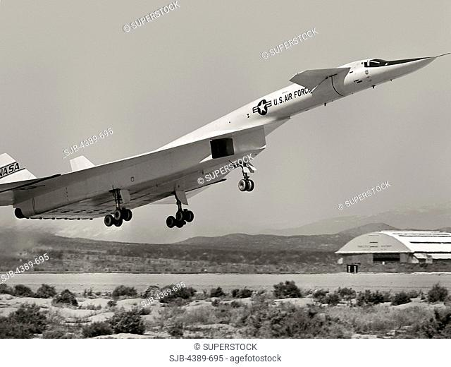 XB-70A Valkyrie Taking Off