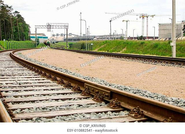 Railway and factory in Klaipeda