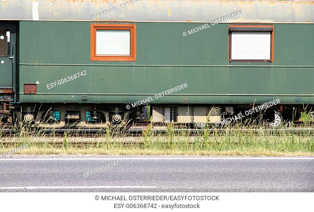 Side view of a train wagon in Sankt Poelten, Austria