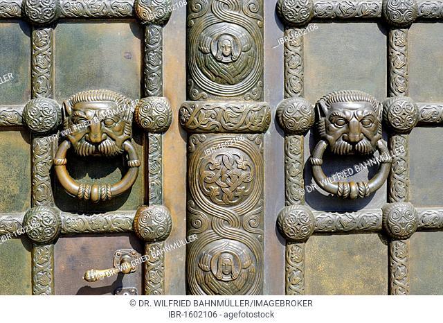Portal, Russian Memorial Church, Leipzig, Saxony, Germany, Europe