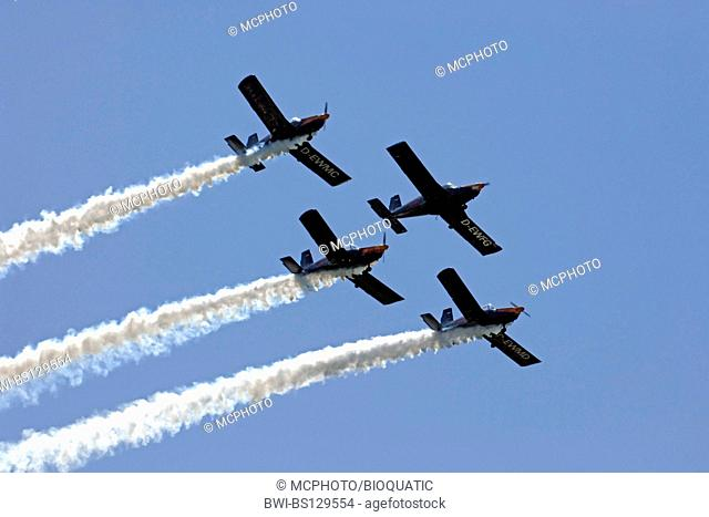 The Blackbirds performing in their aircrafts - Zlin 42 - at Sola Airshow 2007, Norway