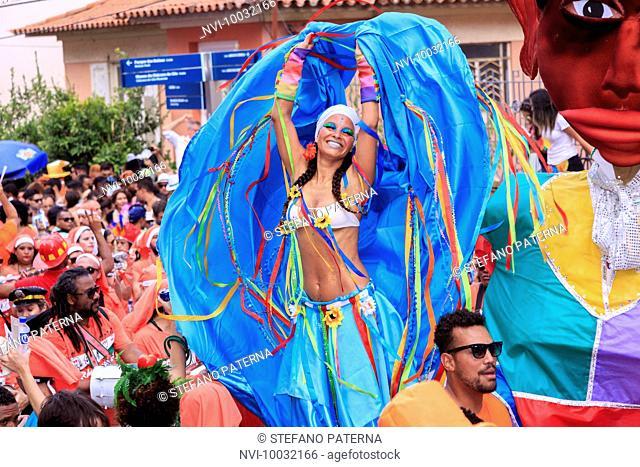 Carmelitas Bloco, carnival parade in Rio de Janeiro, Brazil