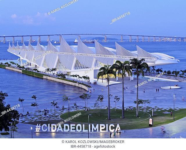Museum of Tomorrow, Museu do Amanha by Santiago Calatrava, Praca Maua, City of Rio de Janeiro, Brazil