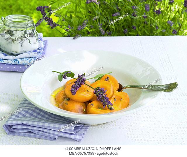 roasted apricots with lavender