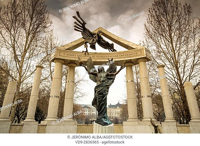 Monument to the victims of the German occupation. Budapest Hungary, Southeast Europe