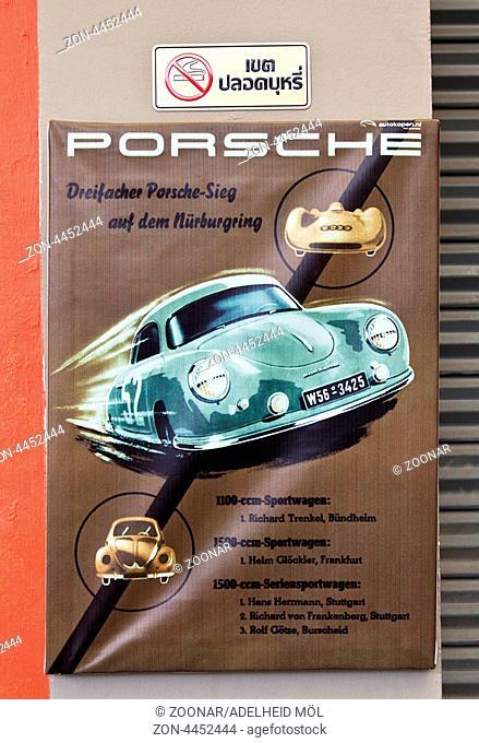 Schlechter Druck, Porsche, Thailand, Südostasien Poster of Porsche, Thailand, Southeast Asia