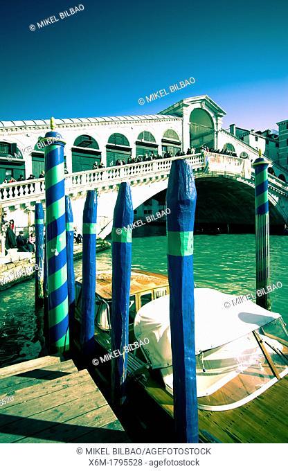 Grand Canal and Rialto Bridge  Venice, Italy