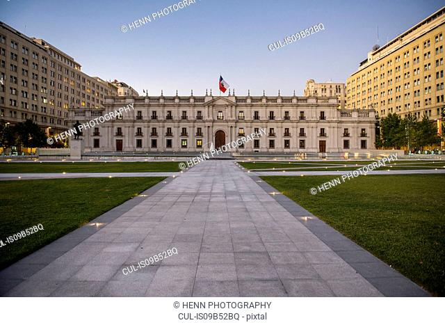 The presidential palace in Santiago de Chile