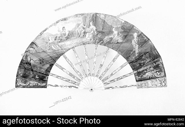 Fan. Date: 18th century; Culture: French; Medium: Parchment, ivory; Dimensions: 9 3/4 x 18 3/4 in. (24.8 x 47.6 cm); Classification: Fans; Credit Line: Gift of...