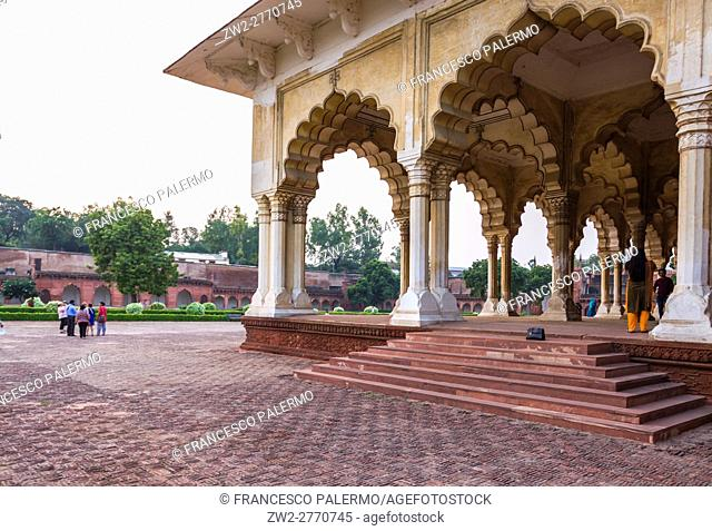 Arches of Diwan-i-Aam located in the Agra fort. Agra, Uttar Pradesh. India