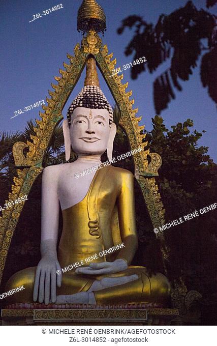 Skinny Buddha Pagoda statue near Taungthaman Lake near Amarapura in Mandalay Myanmar
