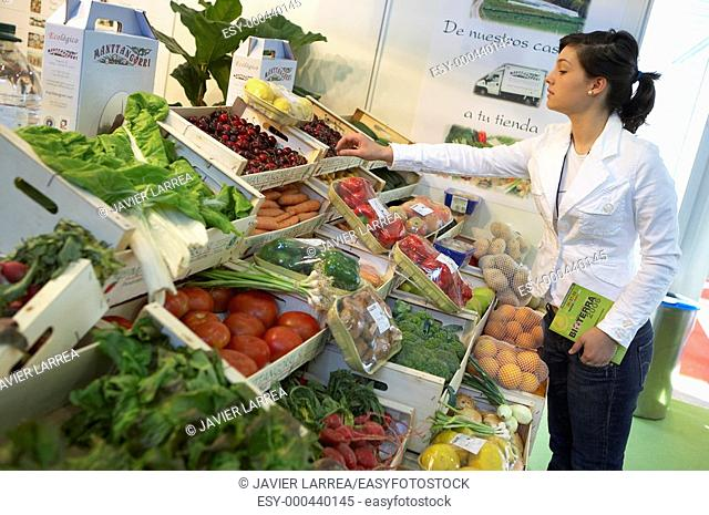 Ecological food. Bioterra, fair of organic products, ecological management and the environment, FICOBA, Basque Coast International Fair