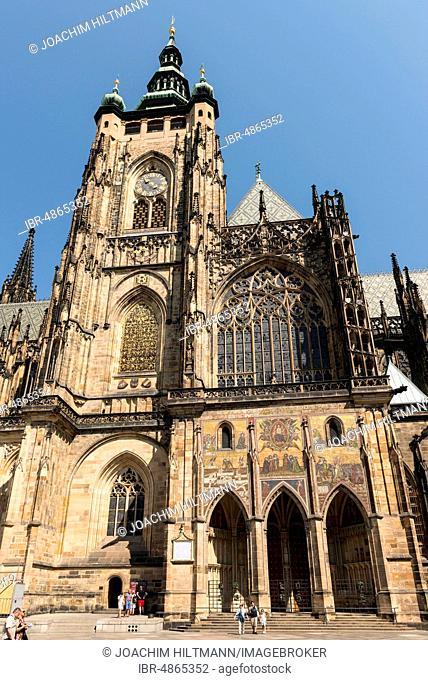St. Vitus Cathedral, Prague Castle, Prague, Bohemia, Czech Republic