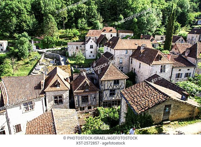 """Saint-Cirq-Lapopie is a commune in the Lot department in south-western France. It is a member of the Les Plus Beaux Villages de France (""""""""The most beautiful..."""