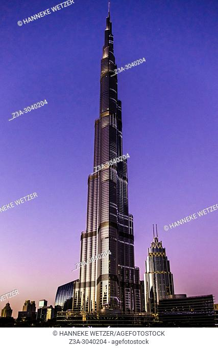 The Burj Khalifa in Dubai, highest building of the world
