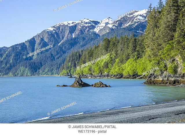Lowell Point on Resurrection Bay in Seward Alaska