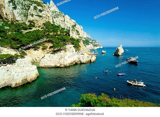 CALANQUE OF SUGITON, MARSEILLE, PROVENCE, FRANCE