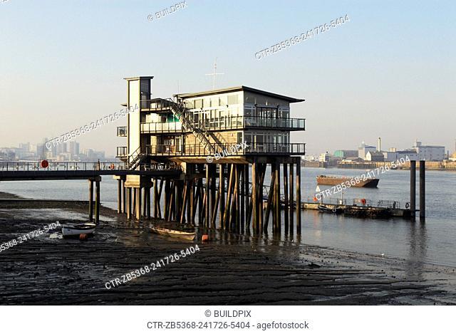 Club house of the Greenwich Yacht Club, East London, UK