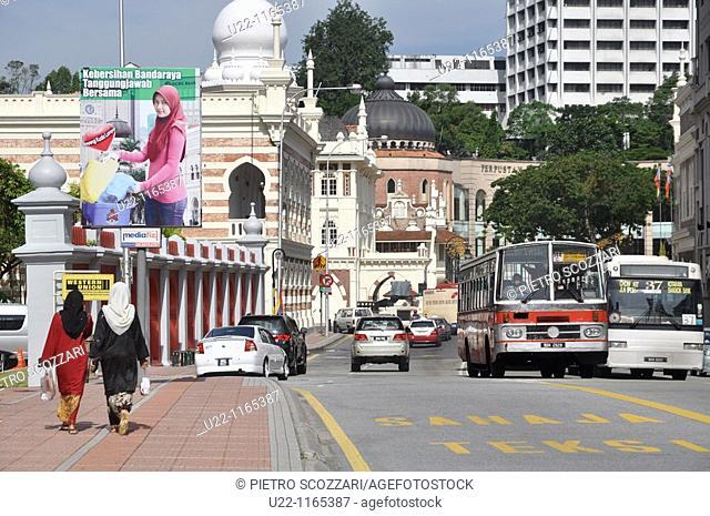 Kuala Lumpur (Malaysia): street to the Sultan Abdu Samad Building and Merdeka Square