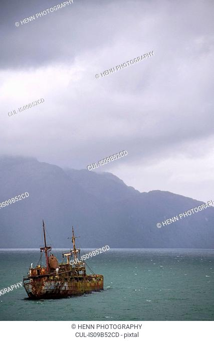 The Shipwreck of the Captain Leonidas in Messier Channel, Chilean Fjords, Patagonia, Chile