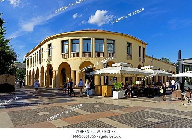 Europe, Italy, Veneto Veneto, Abano Terme, via Pietro d'Abano, Azienda Tu Promozione Turistica, architecture, trees, buildings, catering trade, restaurant