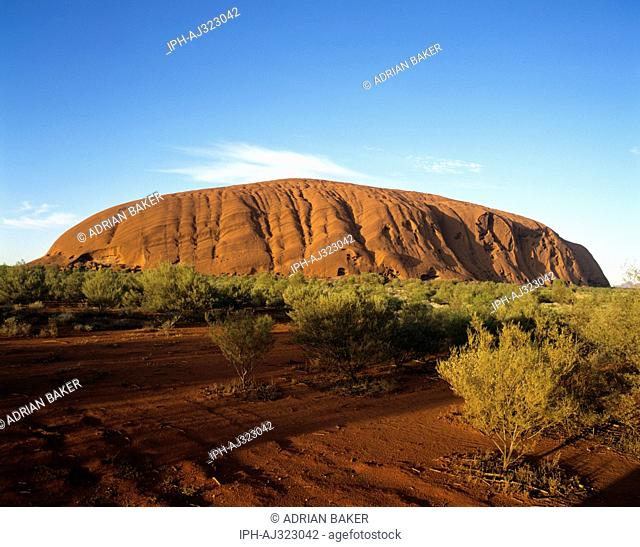 Sunrise over Ayers Rock in Uluru-Kata Tjuta National Park