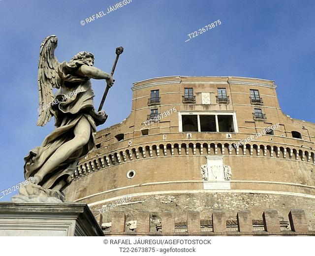 Rome (Italy). Sculpture Sant'Angelo Bridge in Rome