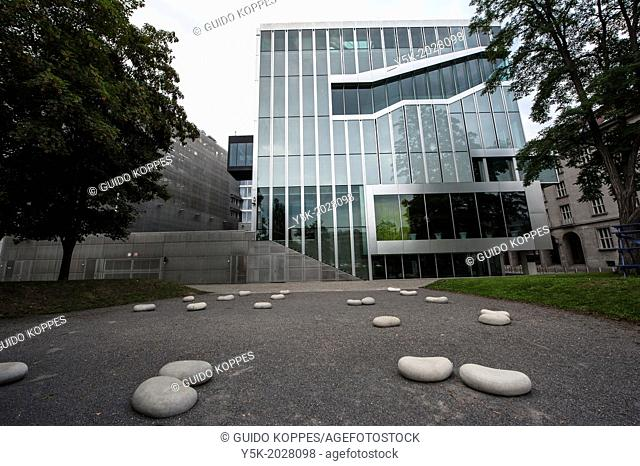 Klosterstrasse, East-Berlin, Berlin, Germany. Exterior and near surroundings of the Dutch Embassy in Berlin, designed and build by the Dutch architect Rem...
