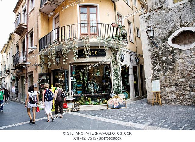 Antiques Shop in Taormina, Sicily, Italy