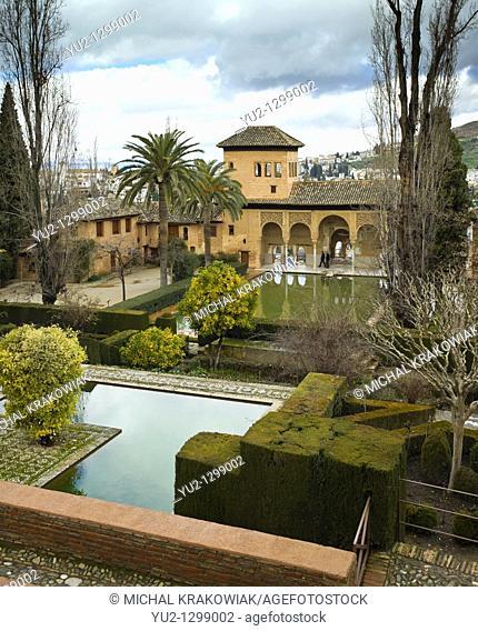 Partal in Alhambra complex in Granada, Spain