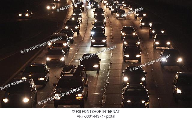 MS, Lockdown, a crowded freeway, Los Angeles, California, USA