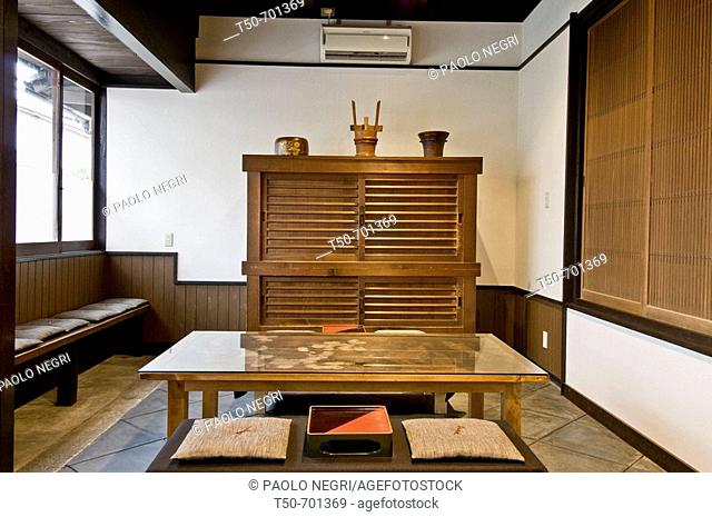 Japan, Kyoto, traditional home interior, tea room