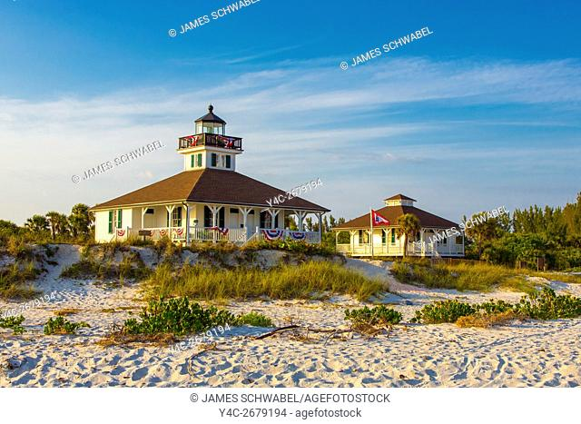 Port Boca Grande Lighthouse & Museum also known as Gasparilla Island Light Station on the Gulf of Mexico on Gasparilla Island