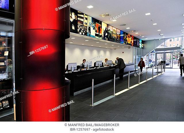 Ticket office and the opera shop of the Bayerische Staatsoper, Bavarian State Opera, Munich, Bavaria, Germany, Europe