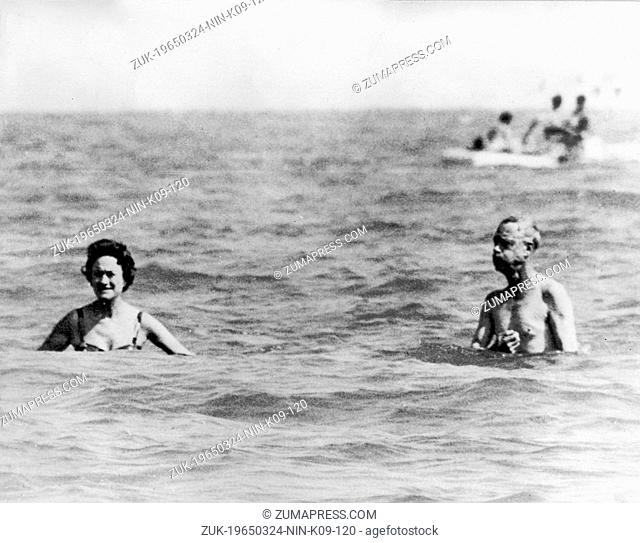 Aug. 3, 1961 - Venice, Italy - EDWARD VIII had met and fallen in love with a married American woman, Mrs. WALLIS SIMPSON