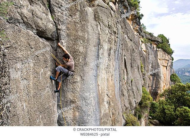 Climbing wall in Siurana Catalonia, Spain