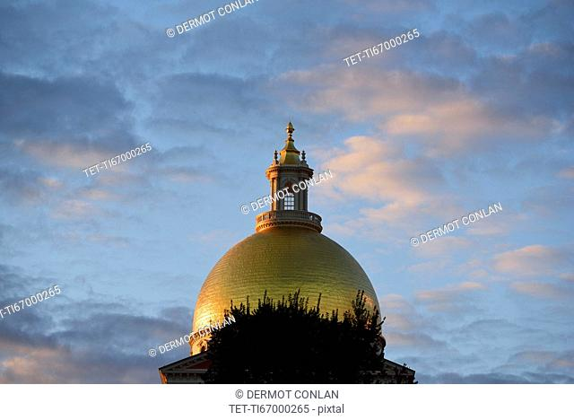 Gold dome of Massachusetts State House