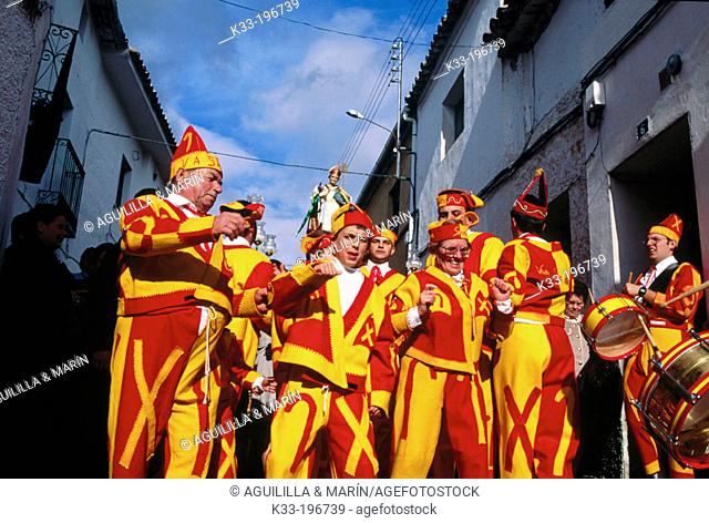 'Botargas de San Blas', carnival. Albalate de Zorita. Guadalajara province. Spain