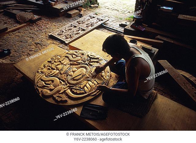 Cabinetmaker at work. Patan, Nepal