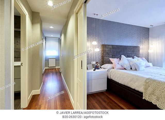 Hall and Bedroom, Interior decoration, Home