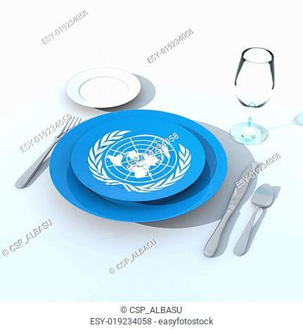 Bandiera 3D ONU
