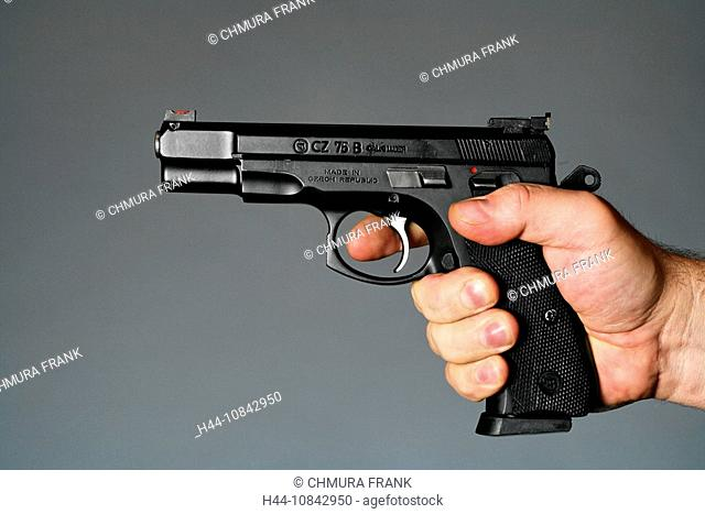 9 mm, 9mm, person, adult, adults, assassin, Close-up, danger, dangerous, detail, finger, fingers, firearm, firearms, g