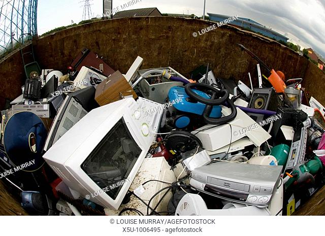 Factory Lane Recycling and Reuse Centre in Croydon, UK Small appliances and electrical equipment will be recycled in order to reduce landfill under the WEEE...
