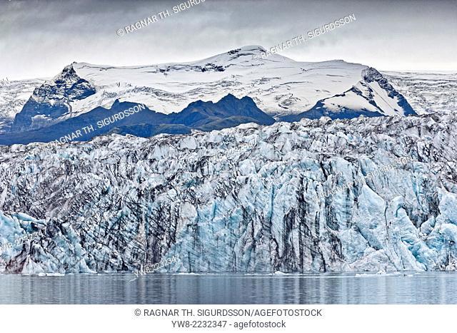 Ice walls- Jokulsarlon Glacial Lagoon, Breidarmerkurjokull Glacier, Vatnajokull Ice Cap, Iceland