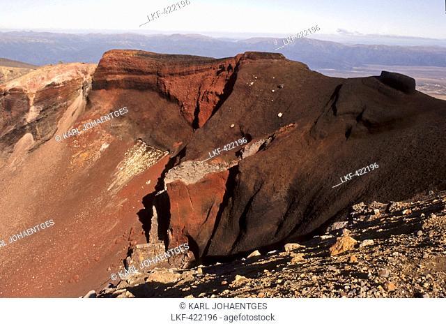 blocked for illustrated books in Germany, Austria, Switzerland: Red crater of Mount Tongariro, Tongariro National Park, North Island, New Zealand
