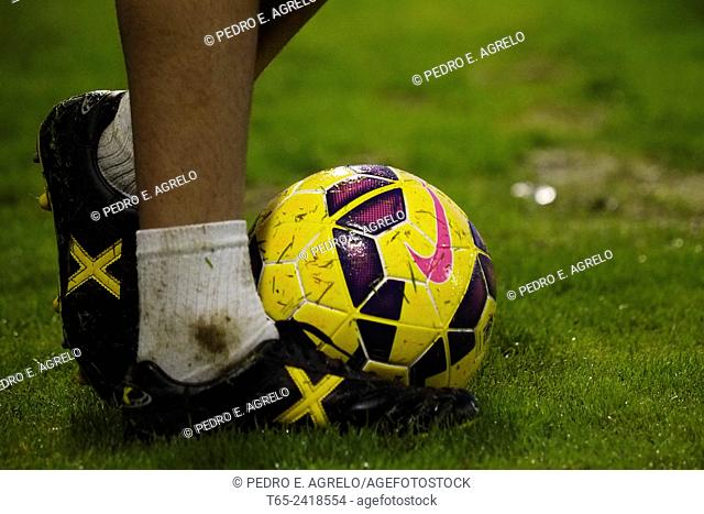 26 October 2014. Professional soccer ball, League Two