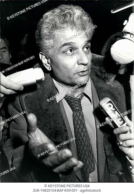 Jan. 04, 1982 - Philosopher Jacques Derrida was arrested and imprisoned after customs agents in the Prague airport found drugs in his suitcase